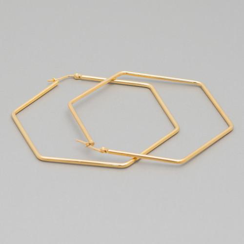 Chiusura Di Argento 925 Moschettone 11mm A Pesciolino Oro Rosa 20pz