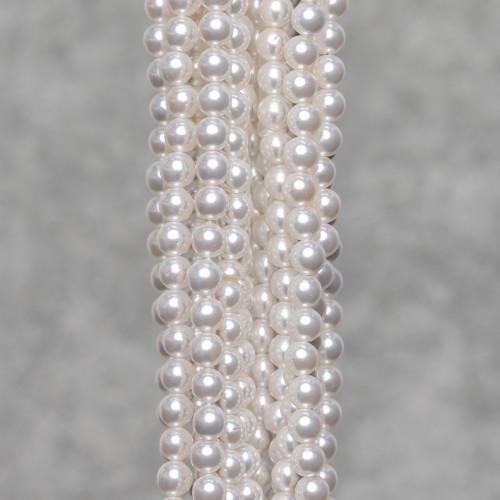 Collana Con Cristalli Girocollo A Cascata 44cm Allungabile fino a 51cm Bianco E Nero