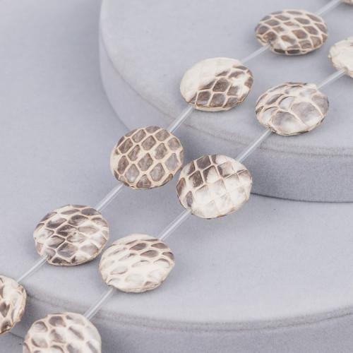 Pasta di Corallo Rosa Chiaro Synt Tondo Liscio 12mm