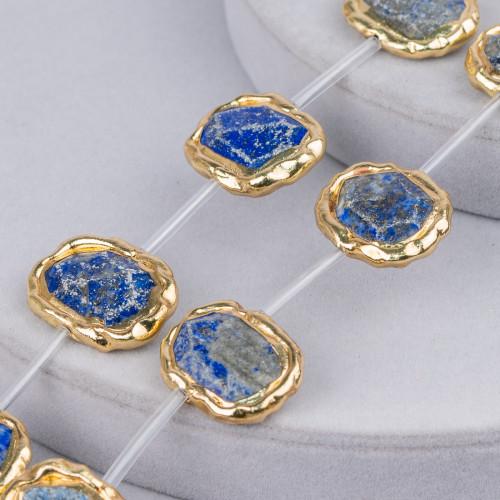 Collana Di Perle Di Maiorca Tondo Piatto 18mm Con Chiusura In Ottone Multicolor Mod.2 44-49cm