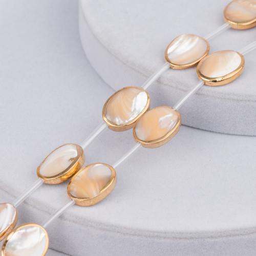 Collana Di Perle Di Maiorca Tondo Piatto 20mm Con Chiusura In Ottone Nero Tahiti 44-49cm