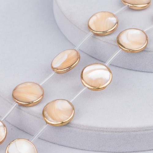 Collana Di Perle Di Maiorca Tondo 08mm Con Chiusura In Ottone Bianco-Grigio-Lilla 44-49cm