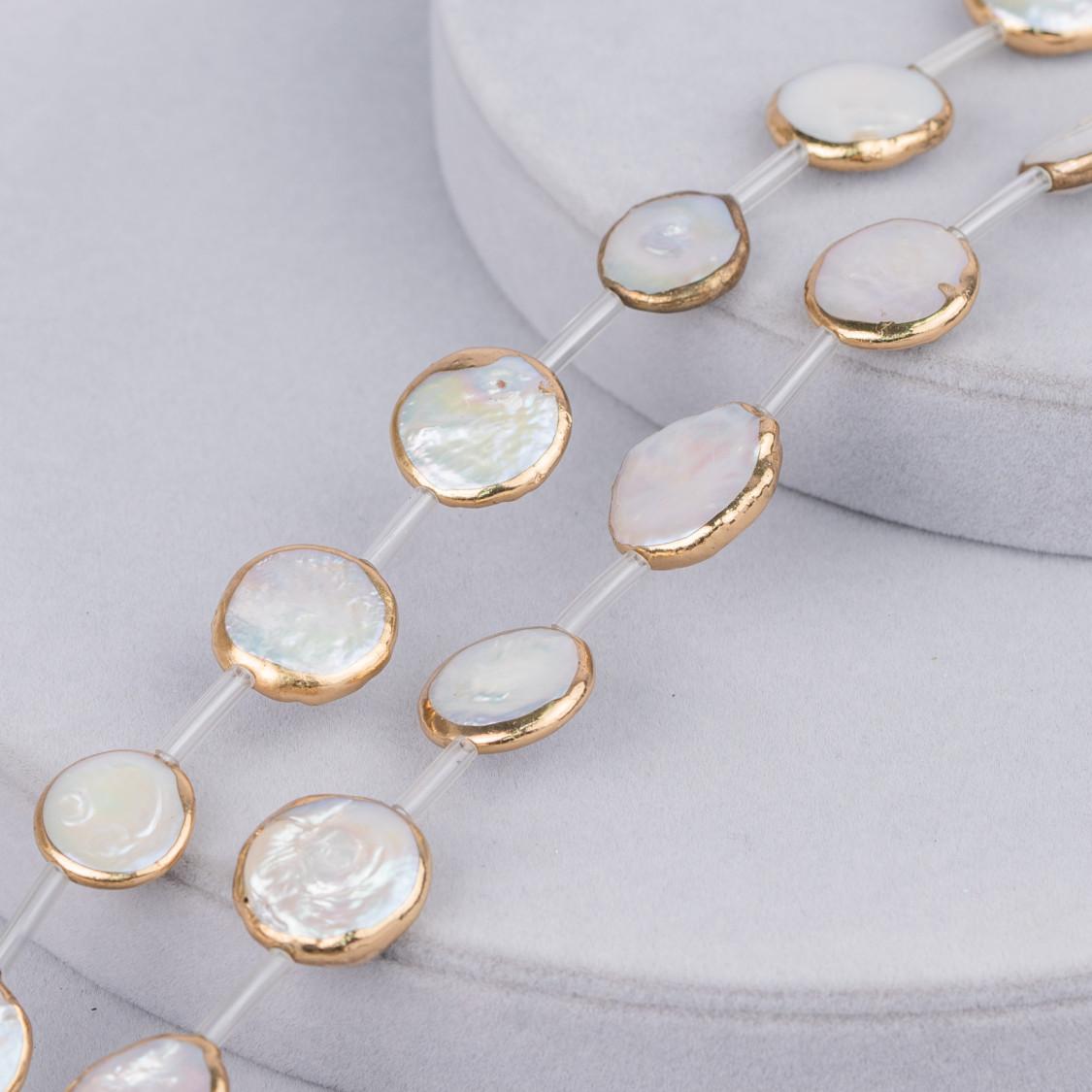 Orecchini Di Argento 925 Con Perle Di Fiume Pietre Dure E Marcasite Strass 14x55mm