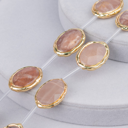 Bracciale Di Berilli Multicolor Acquamarina Morganite Tondo 10mm