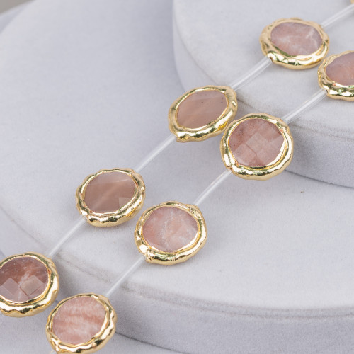 Bracciale Di Berilli Multicolor Acquamarina Morganite Tondo 12mm