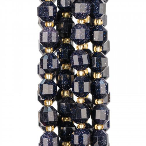 Base Per Orecchini Di Argento 925 Con Zirconi Perno Cerchi Doppi 9,5x15,5mm 5 Paia Oro Rosa