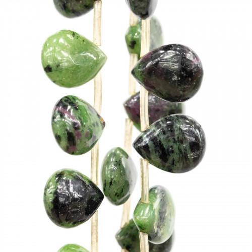 Orecchini Di Bronzo A Perno Con Perle Di Fiume Barocche Piatte 17-20x37-42mm Perno A Foglia