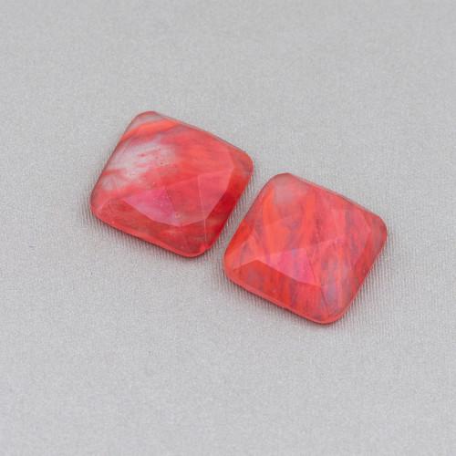 Orecchini A Monachella Di Argento 925 Con Perle Di Maiorca E Goccia Di Giade Con Bronzo 23x68mm Oro Rosa Rosso
