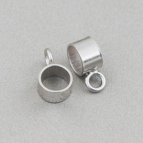 Ciondolo Pendente Di Argento 925 Con Zirconi Pave' Incastonati A Goccia 16x28mm