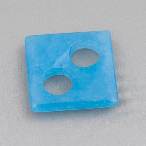 Catena Rosario Con Cristalli Cilindro e Ottone 2,5mm 10mt Bianco