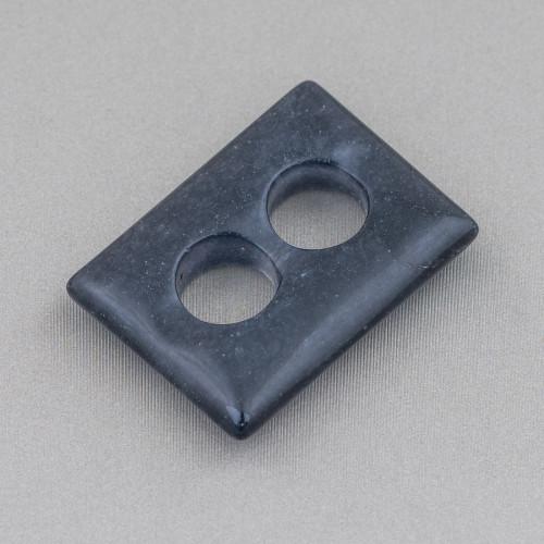 Catena Rosario Con Cristalli Cilindro e Ottone 2,5mm 10mt Grigio