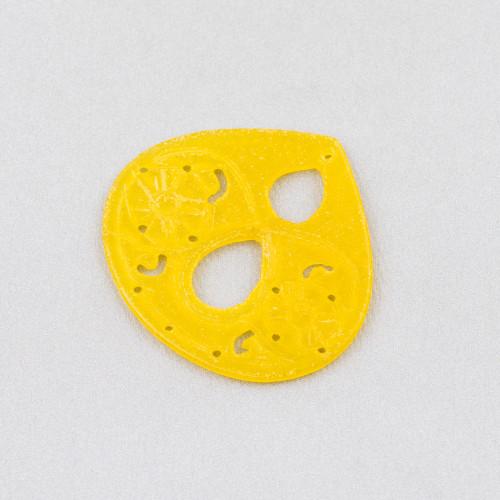 Ciondolo Pendente Di Argento 925 Con Zirconi E Pietra Idrotermale Rodiato 13x21mm