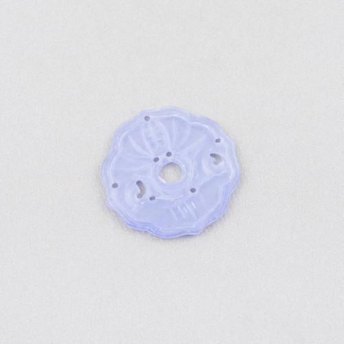 Ciondolo Pendente Di Argento 925 Croce Con Zirconi Viola 23mm