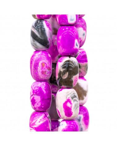 Cabochon Quadrato Sfaccettato 25mm 1pz - Quarzo Rosa