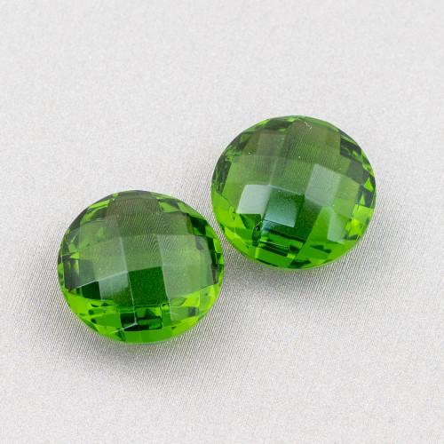 Rubizoisite Verde Gocce Piatte Grezzo Foro Laterale 13x17mm