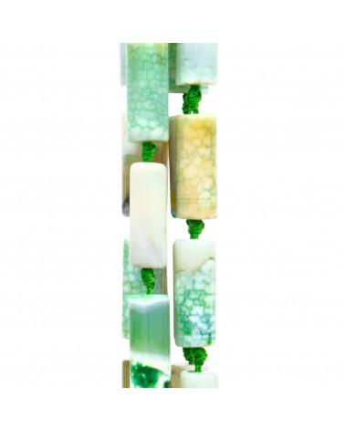 Cabochon Quadrato Sfaccettato 30mm 1pz - Pietra Del Sole Blu Synt