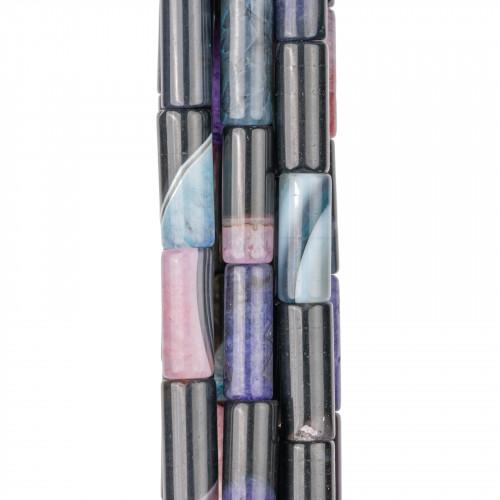 Cabochon Quadrato Sfaccettato 40mm 1pz - Agata Indiana