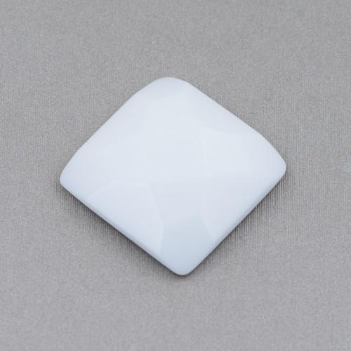 Chiusura Di Argento 925 Con Zirconi Micropave Multifilo Quadrato 24x24mm 1pz Dorato