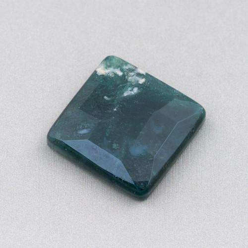 Chiusura Di Argento 925 Con Zirconi Micropave Multifilo Quadrato 24x24mm 1pz Oro Rosa