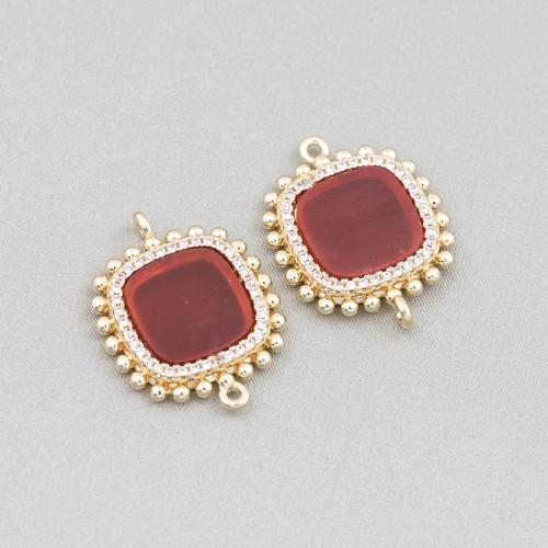 Orecchini Di Argento 925 E Perle Di Fiume 5,0-5,5mm 12 Paia Rosa