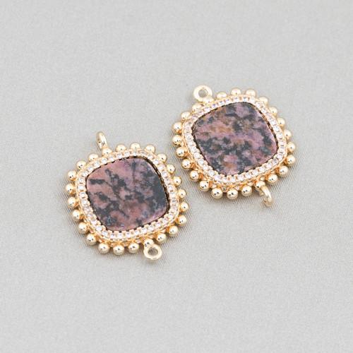 Orecchini Di Argento 925 E Perle Di Fiume 6,0-6,5mm 12 Paia Rosa