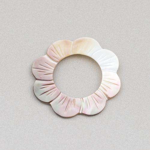 Orecchini Di Argento 925 E Perle Di Fiume 12,0-12,5mm 6 Paia Bianco
