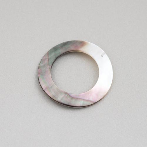 Orecchini Di Argento 925 E Perle Di Fiume 12,0-12,5mm 6 Paia Peacock