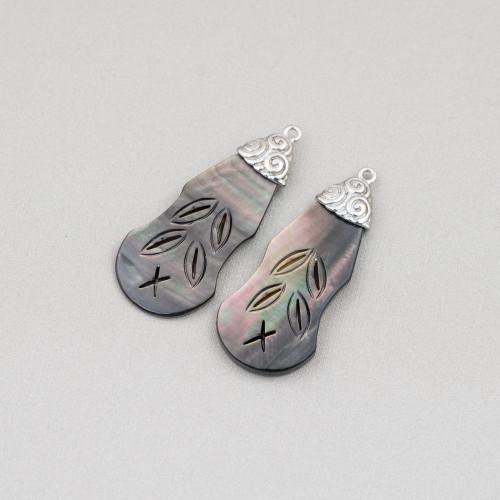 Orecchini Di Argento 925 E Perle Di Fiume 12,0-12,5mm 6 Paia Rosa