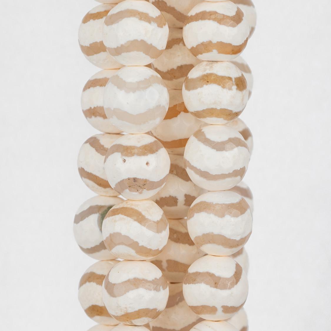 Cabochon Tondo Sfaccettato 25mm 1pz - Pietra Del Sole Synt