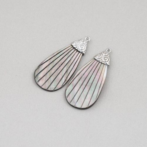 Orecchini Di Argento 925 E Perle Di Fiume 12,5-13,0mm 6 Paia Bianco