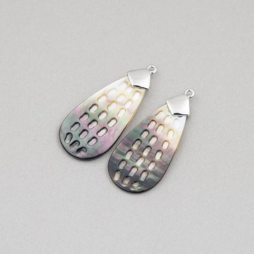 Perle Di Fiume Bottoni Cabochon 1 Foro (AA) 10.5-11.0mm 10 Paia Lilla