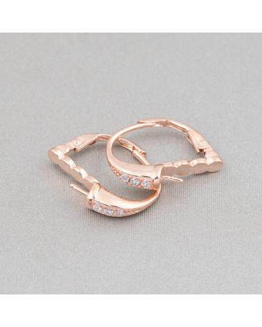 Anello Di Argento 925 Con Zirconi E Perla Di Maiorca Bianca 22x34mm