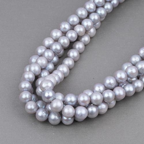 Perle Di Fiume Tondo 11,0-12,0mm AA Bianco
