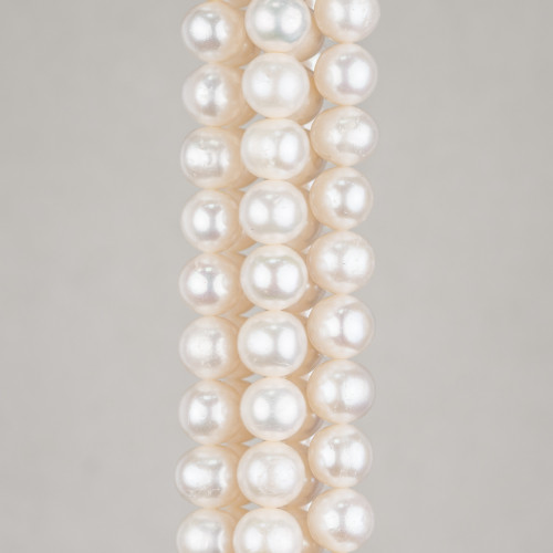 Perle Di Fiume Tondo 8,5-9,5mm AAA+ Grigio
