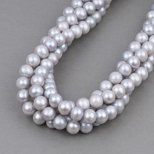 Perle Di Fiume Tondo 9,0-10,0mm AA2 Bianco