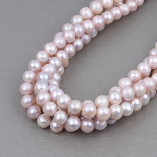 Perle Di Fiume Tondo 9,0-10,0mm AA2 Rosa