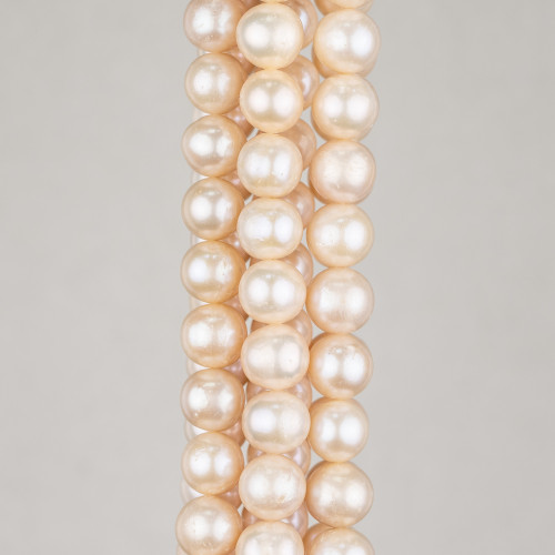 Perle Di Fiume Tondo 9,0-10,0mm AAAAA3 Bianco