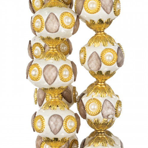 Perle Di Fiume Tondo 3,5-4,0mm AAA+ Bianco