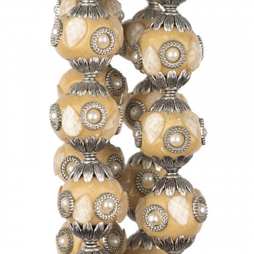 Perle Di Fiume Tondo 3,5-4,0mm AAAA+ Bianco
