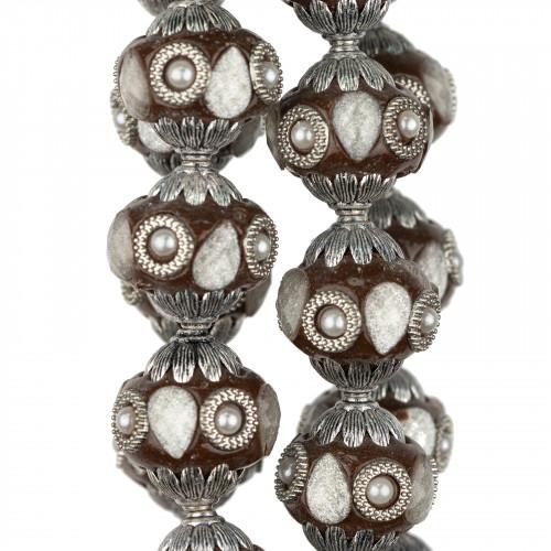 Perle Di Fiume Tondo 4,0-4,5mm AAA Bianco