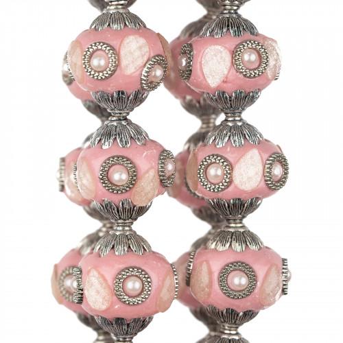 Perle Di Fiume Tondo 4,0-4,5mm AAA- Bianco