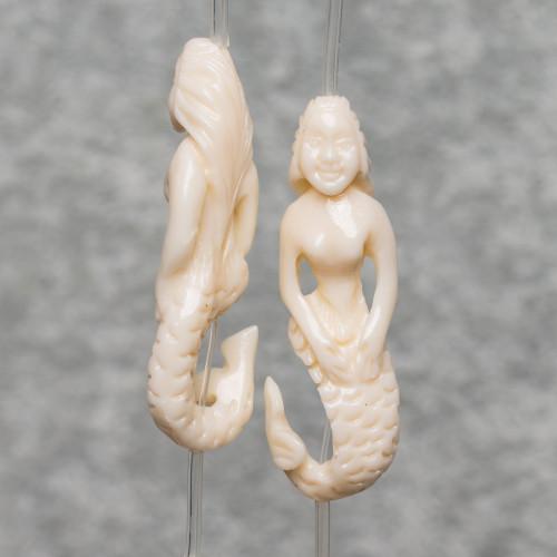 Conchiglia Bianco Sfaccettato 12mm