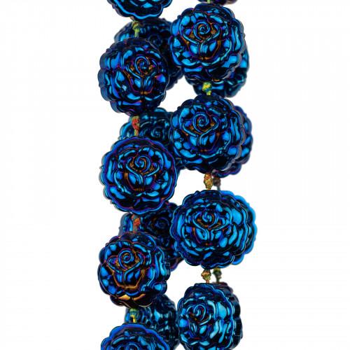 Corniola Multicolor Rettangolo Piatto Sfaccettato 12x16mm