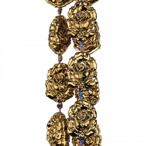 Corniola Striata Sfaccettata 16mm