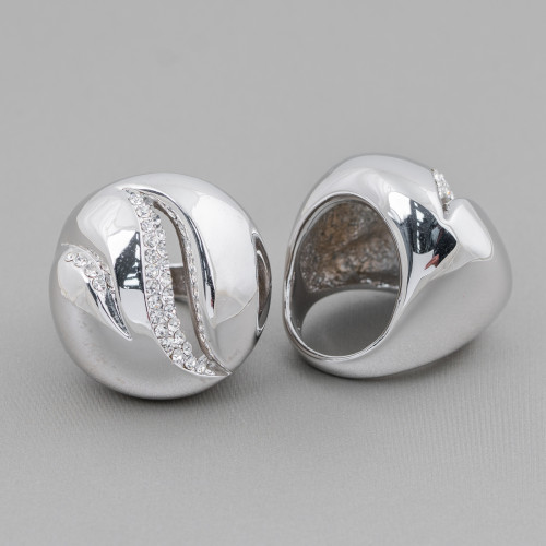 Orecchini A Perno Di Argento 925 Con Perle Di Maiorca 8x48mm