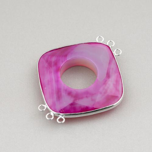 Perle Di Fiume Barocche Piatte (YJG) Rosa 60-70gr