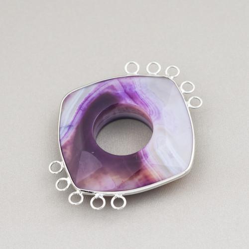 Perle Di Fiume Barocche Piatte (YQG) Lilla 90-100gr