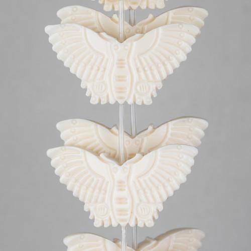 Ciondolo Pendente Di Argento 925 Con Perle Di Maiorca 12x28mm