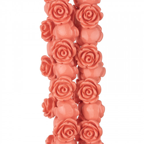Ciondolo Pendente Di Argento 925 Con Perle Di Maiorca Rosa 12x23mm