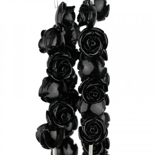 Ciondolo Pendente Di Argento 925 Fiore Con Perle Di Maiorca 16x24mm